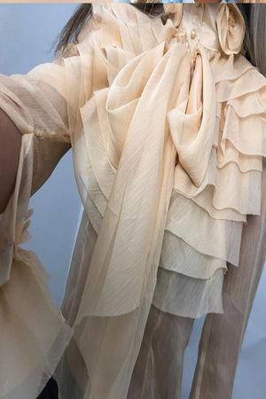 Victorian Style Ruffle Blouse