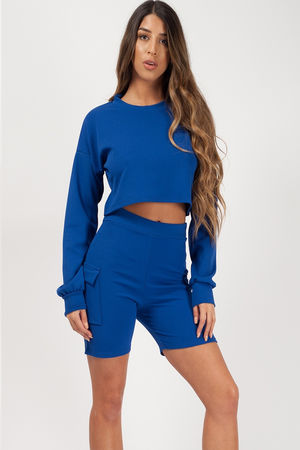 Crop Top and Pocket Shorts Co-ord