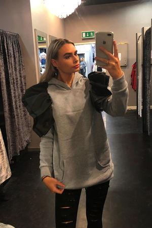 Lauren Mc Frill Shoulder Hoodie