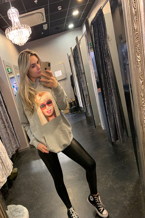 PHOTO HOODIE LONG GREY