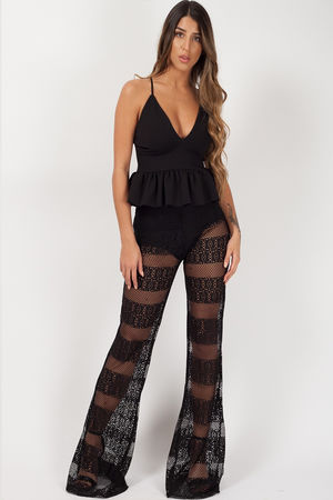 Crochet Knicker Flared Trousers