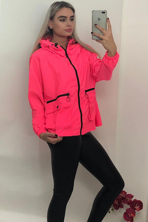 Neon Zip Detail Festival Jacket
