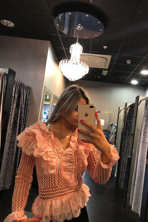 V front Lace Blouse