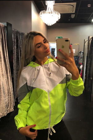 Neon Contrast Windsheater Jacket