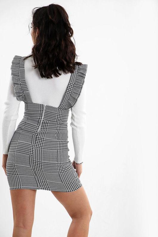 Kyraah Frill pinafore dress