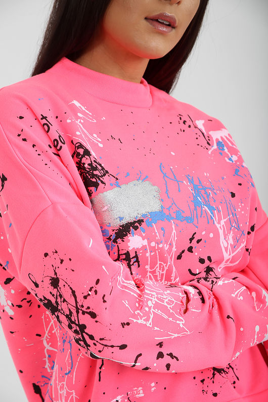 Graffiti Paint Splash Jumper