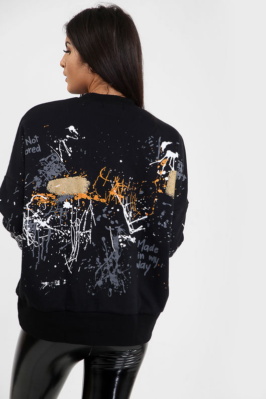 Graffiti Paint Splash Jumper-Copy
