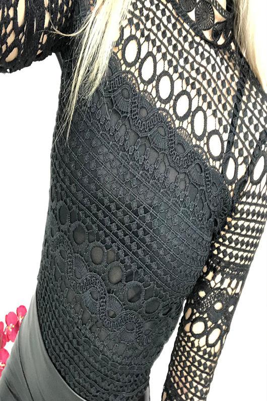 Patchwork Crochet Bodysuit