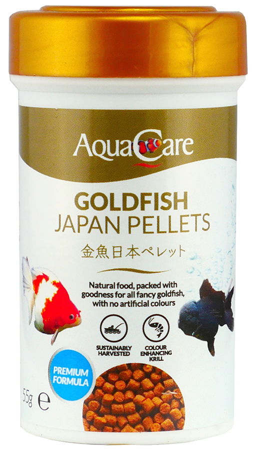 Aqua Care Goldfish Gold Japan Pellets55G Front