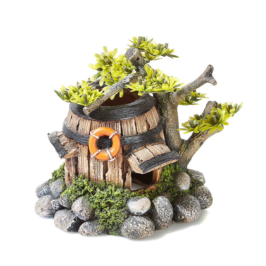 Barrel House With Plants