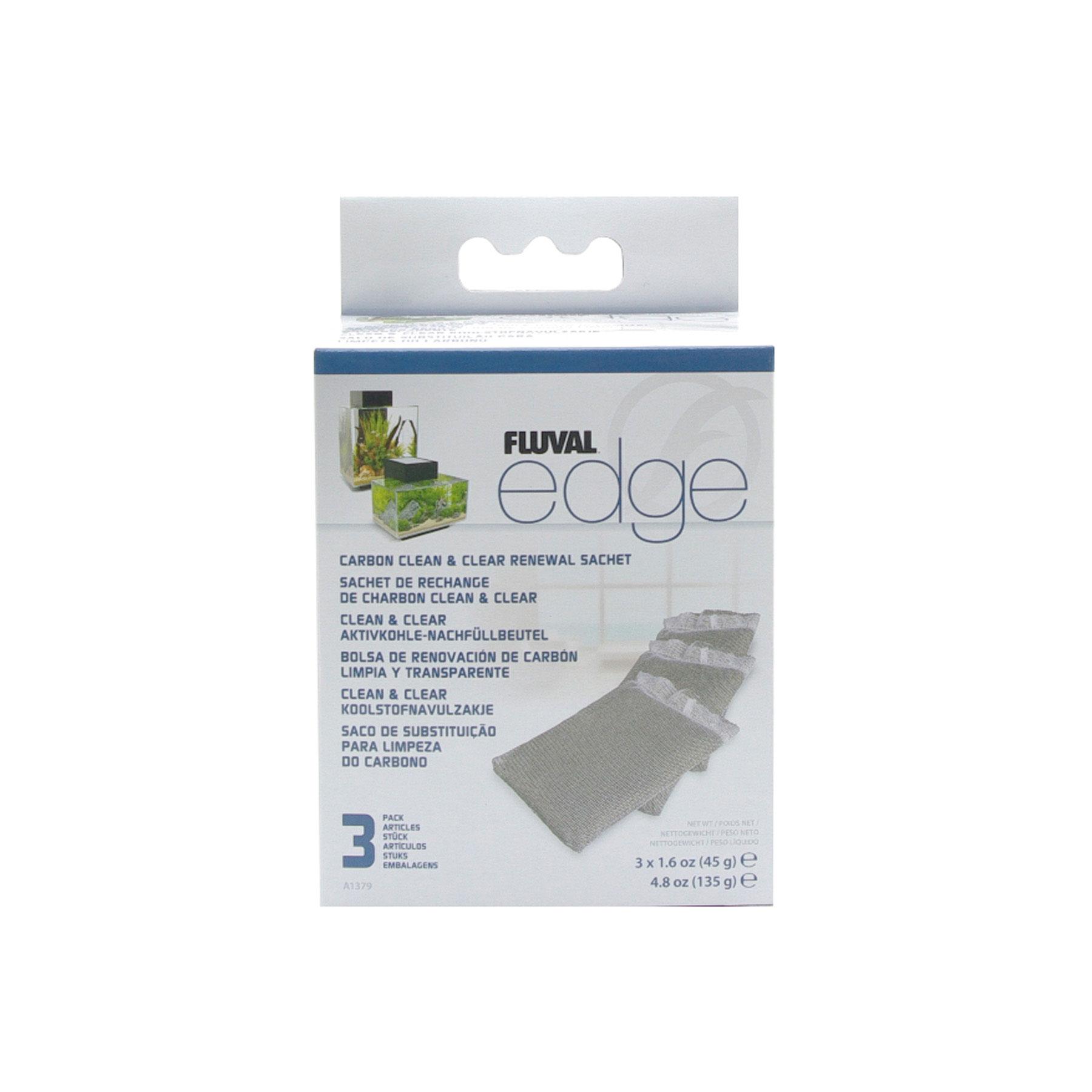 Fluval Edge Carbon Clean & Clear Renewal Sachet 3 Pack