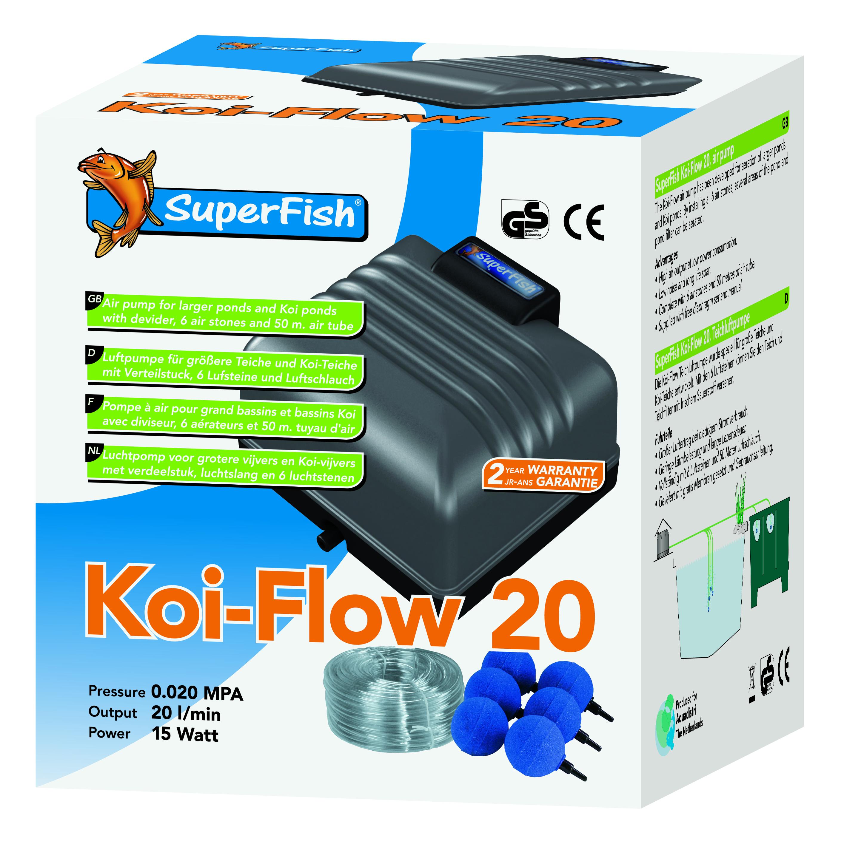 Superfish Koi Flow 20 Prof Aeration Set