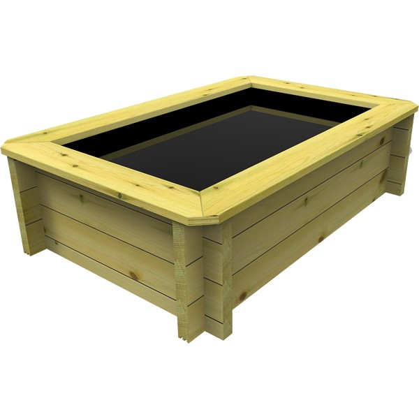 The Garden Timber Company 1.5m x 1m Wooden Fish Pond (27mm plank, 42cm high)