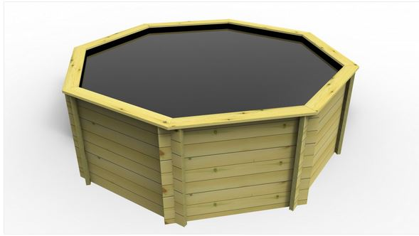 The Garden Timber Company 12ft Octagonal Wooden Fish Pond (44mm plank, 107cm high)
