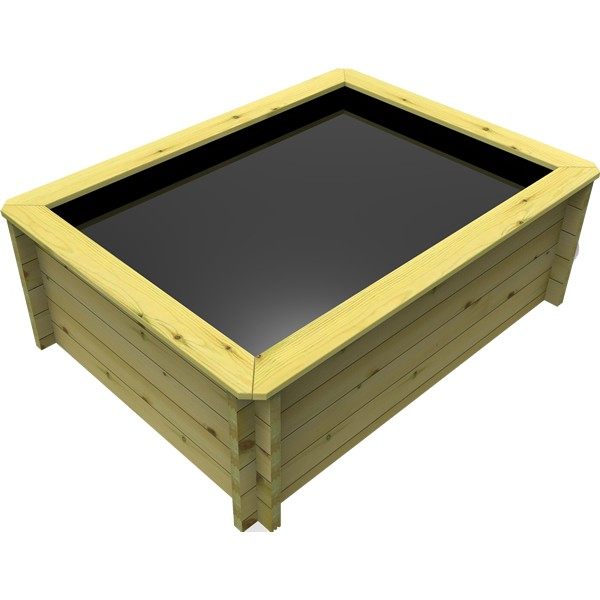 The Garden Timber Company 2m x 1.5m Wooden Fish Pond (44mm plank, 69cm high)