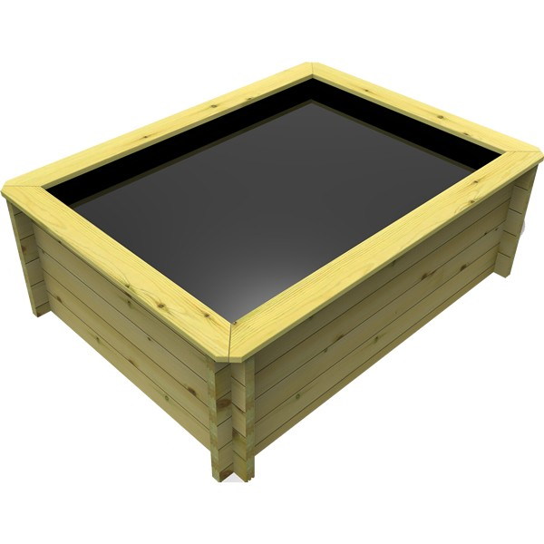 The Garden Timber Company 2m x 1.5m Wooden Fish Pond (44mm plank, 80cm high)