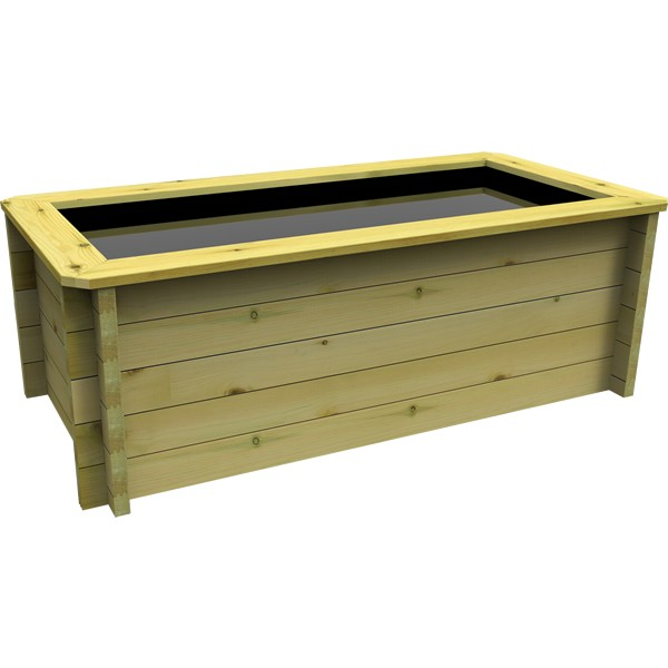 The Garden Timber Company 2m x 1m Wooden Fish Pond (44mm plank, 69cm high)