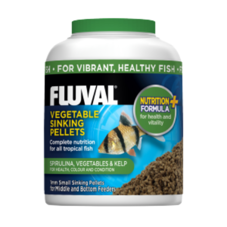 A6557 Fluval Vegetarian Fish Sinking Pellets 90G Uk 1W300 H300