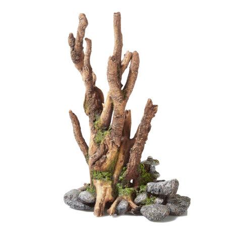 Brown Driftwood On Rocks With Balinese Lantern 2