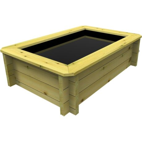 The Garden Timber Company 1.5m x 1.5m Wooden Fish Pond (44mm plank, 27cm high)