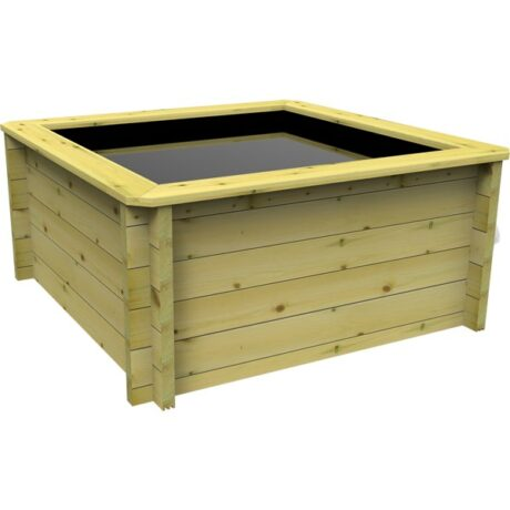 The Garden Timber Company 1.5m x 1.5m Wooden Fish Pond (44mm plank, 69cm high)