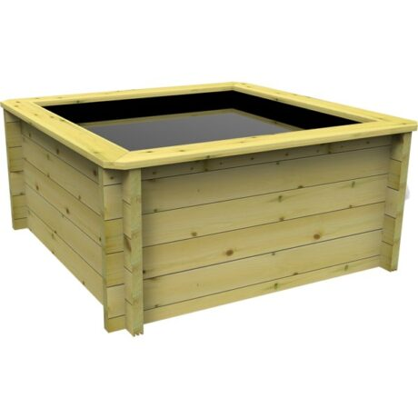 The Garden Timber Company 1.5m x 1.5m Wooden Fish Pond (44mm plank, 80cm high)