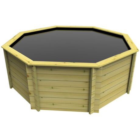 The Garden Timber Company 10ft Octagonal Wooden Fish Pond (44mm plank, 107cm high)