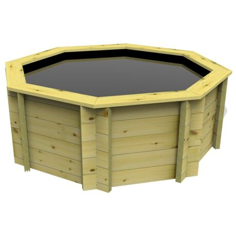 The Garden Timber Company 10ft Octagonal Wooden Fish Pond (44mm plank, 80cm high)