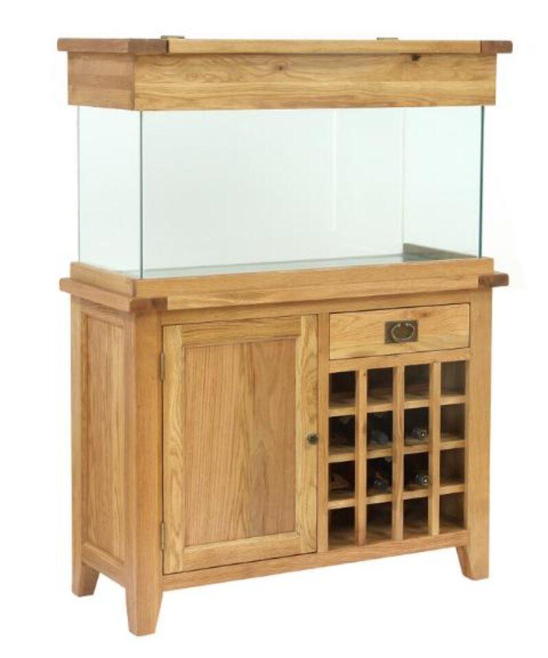 furniture fish tanks. Aqua Oak 110cm \u0027Wine Rack\u0027 Aquarium And Cabinet (AQ110WR) - Maidenhead Aquatics Furniture Fish Tanks