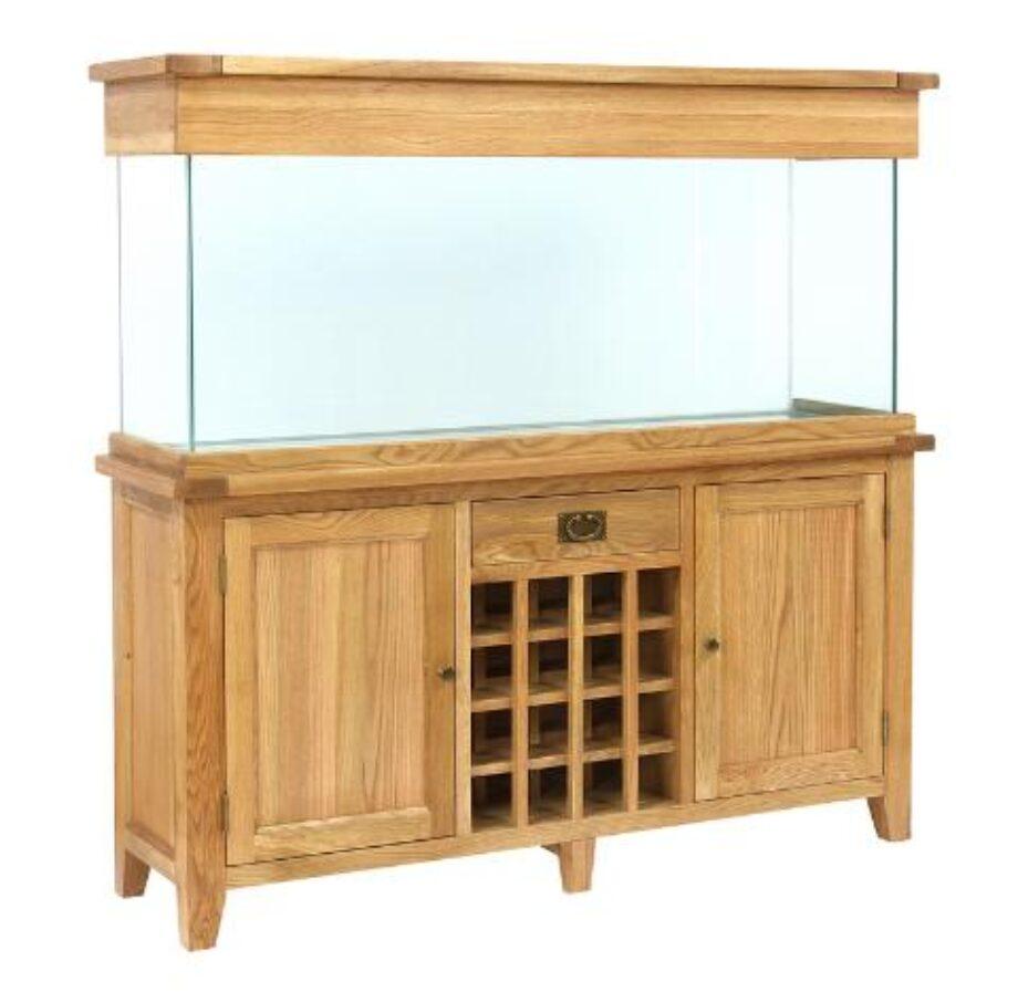 Aqua Oak 160cm U0027Wine Racku0027 Aquarium And Cabinet (AQ160WR)   Maidenhead  Aquatics