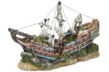 Sunken Galleon with Sails