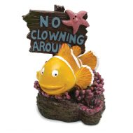 Blue Ribbon 'No Clowning Around' Fish (7 x 8 x 9cm)