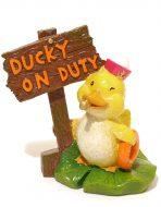 Blue Ribbon Ducky On Duty (7 x 6 x 9cm)