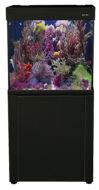 AquaReef 195 S2 Black Marine Aquarium with Black Cabinet