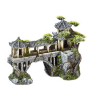Asian Temple On Bridge With Plants 3