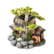 Barrel House With Plants 3