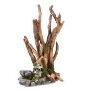 Brown Driftwood On Rocks With Balinese Lantern 3