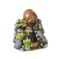 Clay Pot Sand Fall With Plants 1
