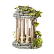Roman Temple With Plants 3