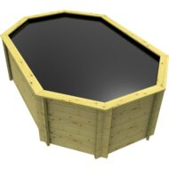 The Garden Timber Company 12ft x 8ft Stretched Octagonal Wooden Fish Pond (44mm plank, 107cm high)