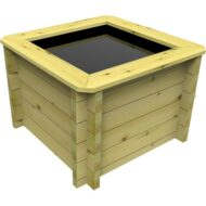 The Garden Timber Company 1m x 1m Wooden Fish Pond 44mm plank, 69cm high