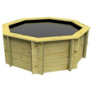 The Garden Timber Company 6ft Octagonal Wooden Fish Pond (44mm plank, 80cm high)