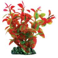 AquaManta Plastic Plant-Ludwigia Red 13cm