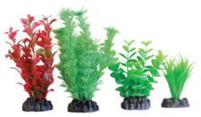 AquaManta Plastic Plant 4-pack Mix 6