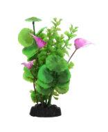AquaManta Plastic Plant - Purple Villarsia/Green Penny Wort (20cm)