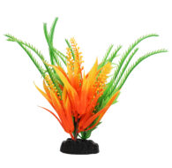 AquaManta Plastic Plant - Orange Comboma/Green Hippuris (20cm)