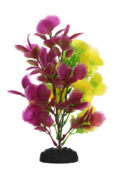 AquaManta Plastic Plant - Purple Hottonia/Yellow Hottonia (20cm)