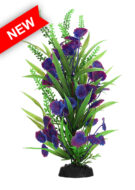 AquaManta Plastic Plant - Blue Centauria/Green Foninalis (30cm)