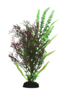 AquaManta Plastic Plant - Purple Fissiden/Green Fontinalis (30cm)