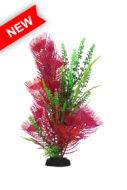AquaManta Plastic Plant - Purple Hottonia/Green Fontinalis (30cm)